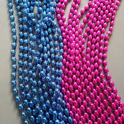pink and blue beads for the gender challenge